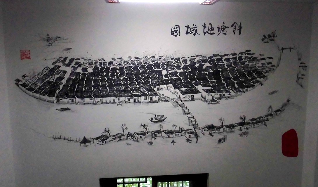 手绘地图 - 苏州半亩(红枫叶)墙绘公司