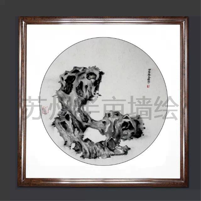太湖石国画装饰画系列作品