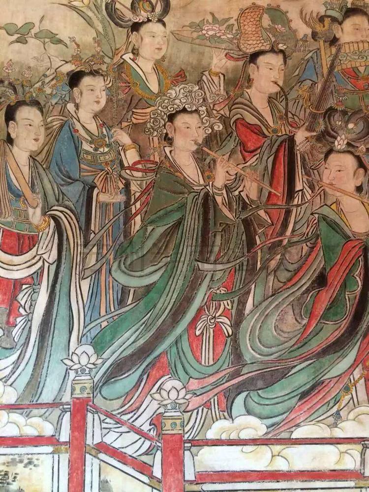 人物壁画手绘墙