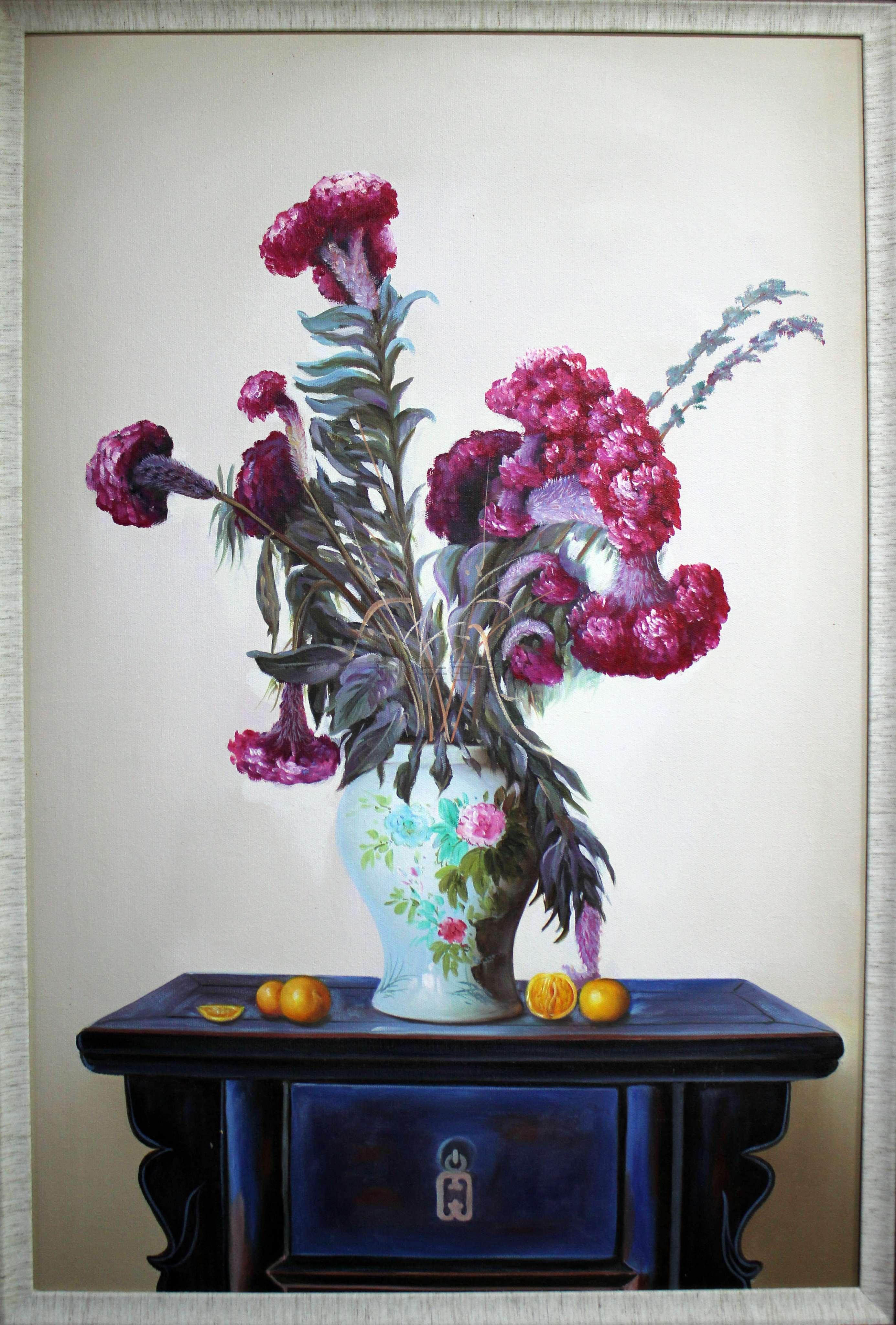 苏州装饰画,花卉写实景物油画