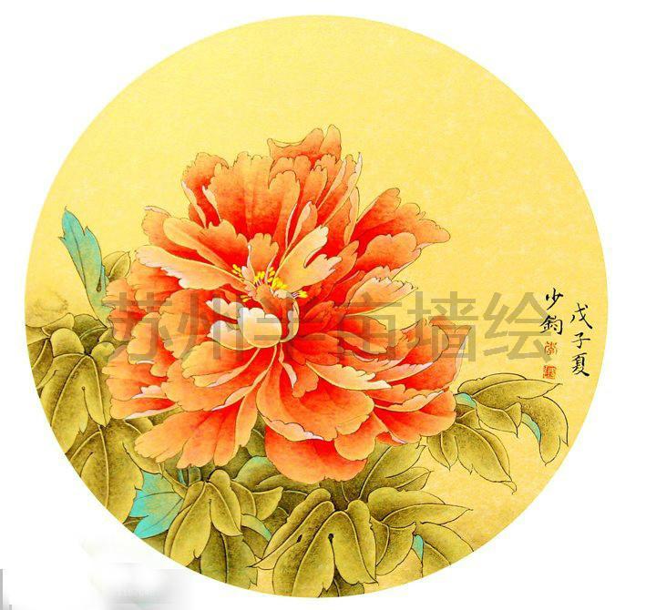 工笔画,有空的时候画画 - 苏州半亩(红枫叶)墙绘公司