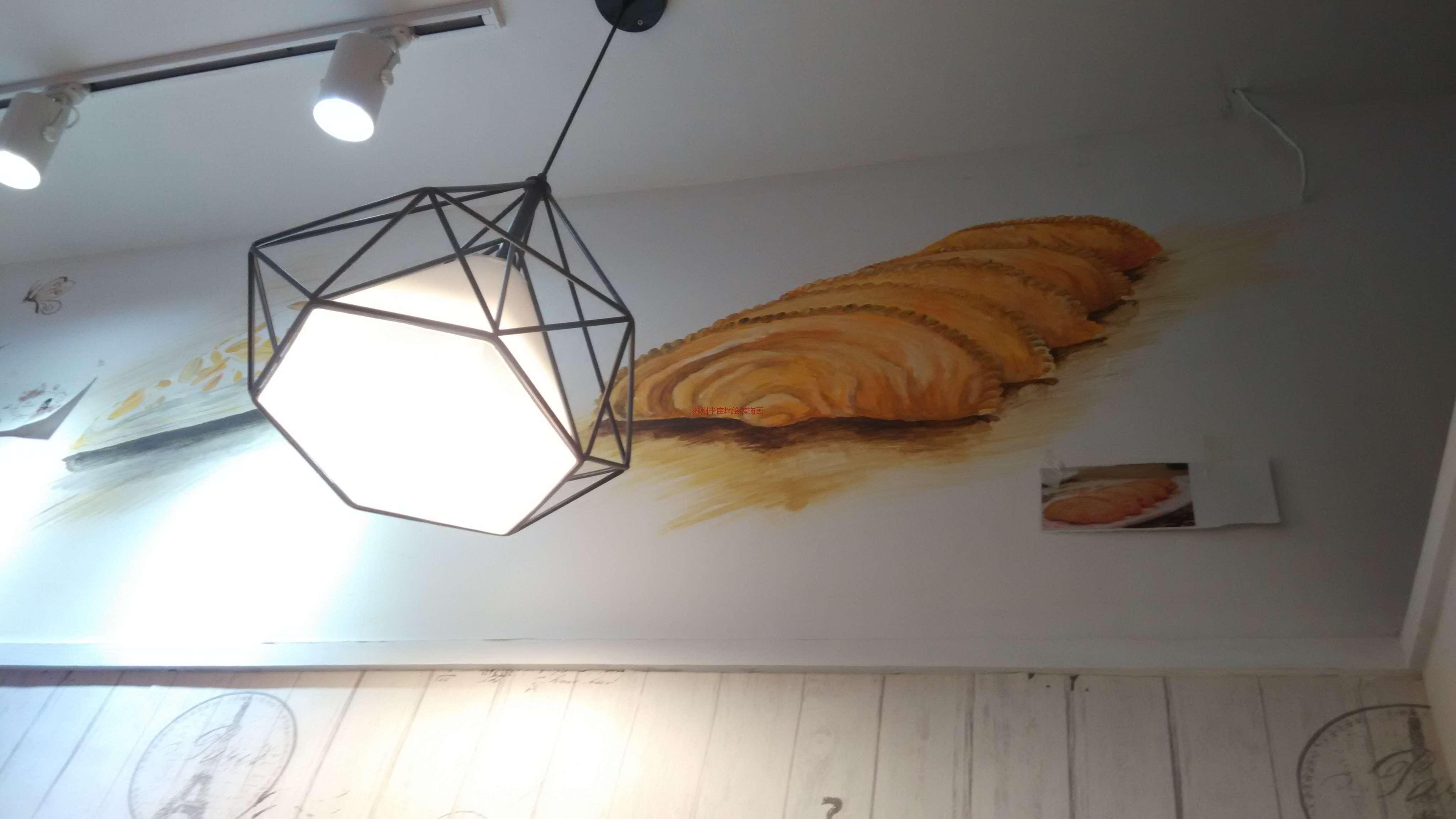 美食手绘墙墙绘