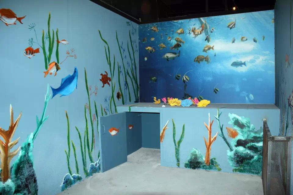 海底世界 - 苏州半亩(红枫叶)墙绘公司