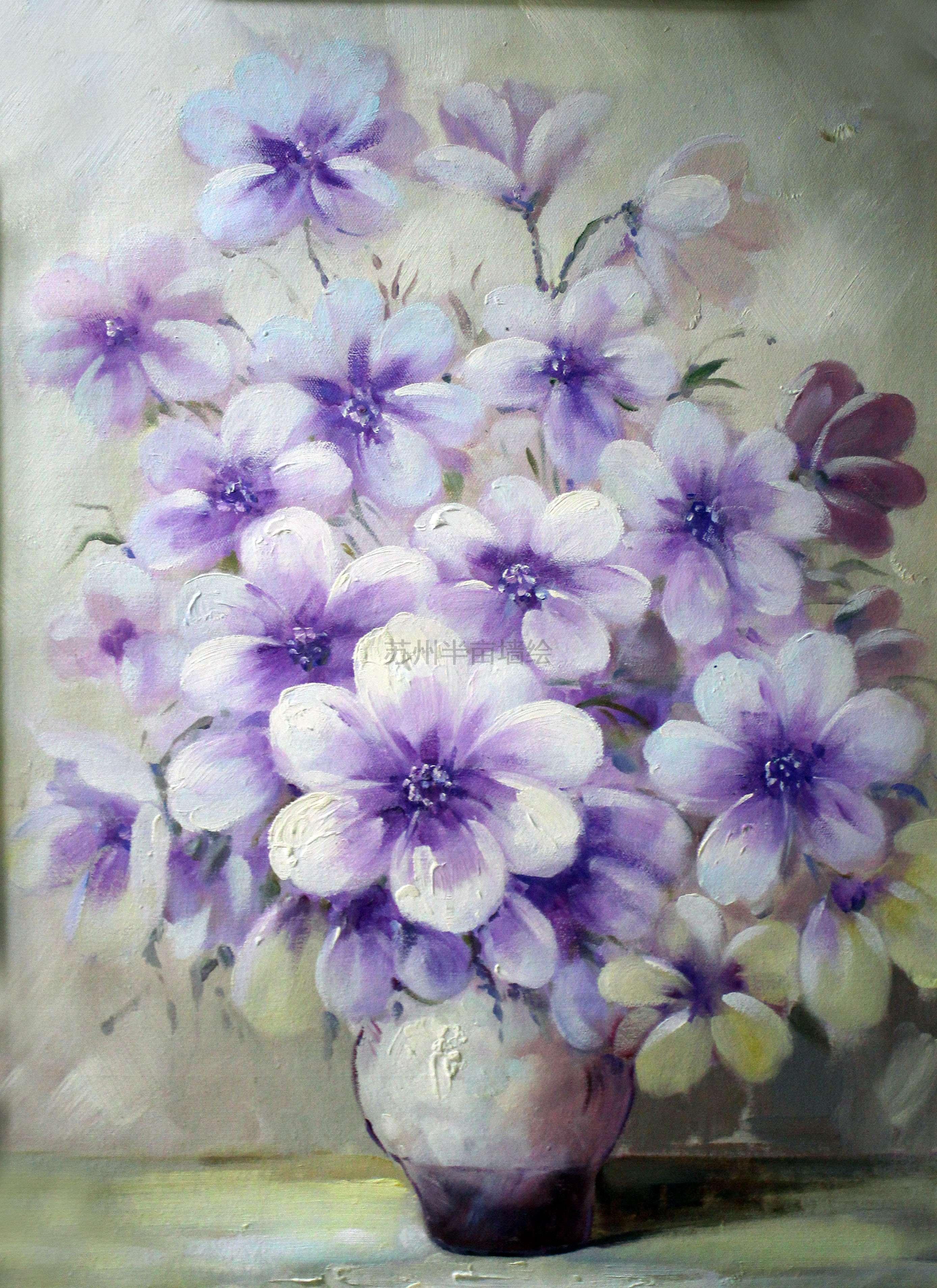 苏州装饰画花卉油画