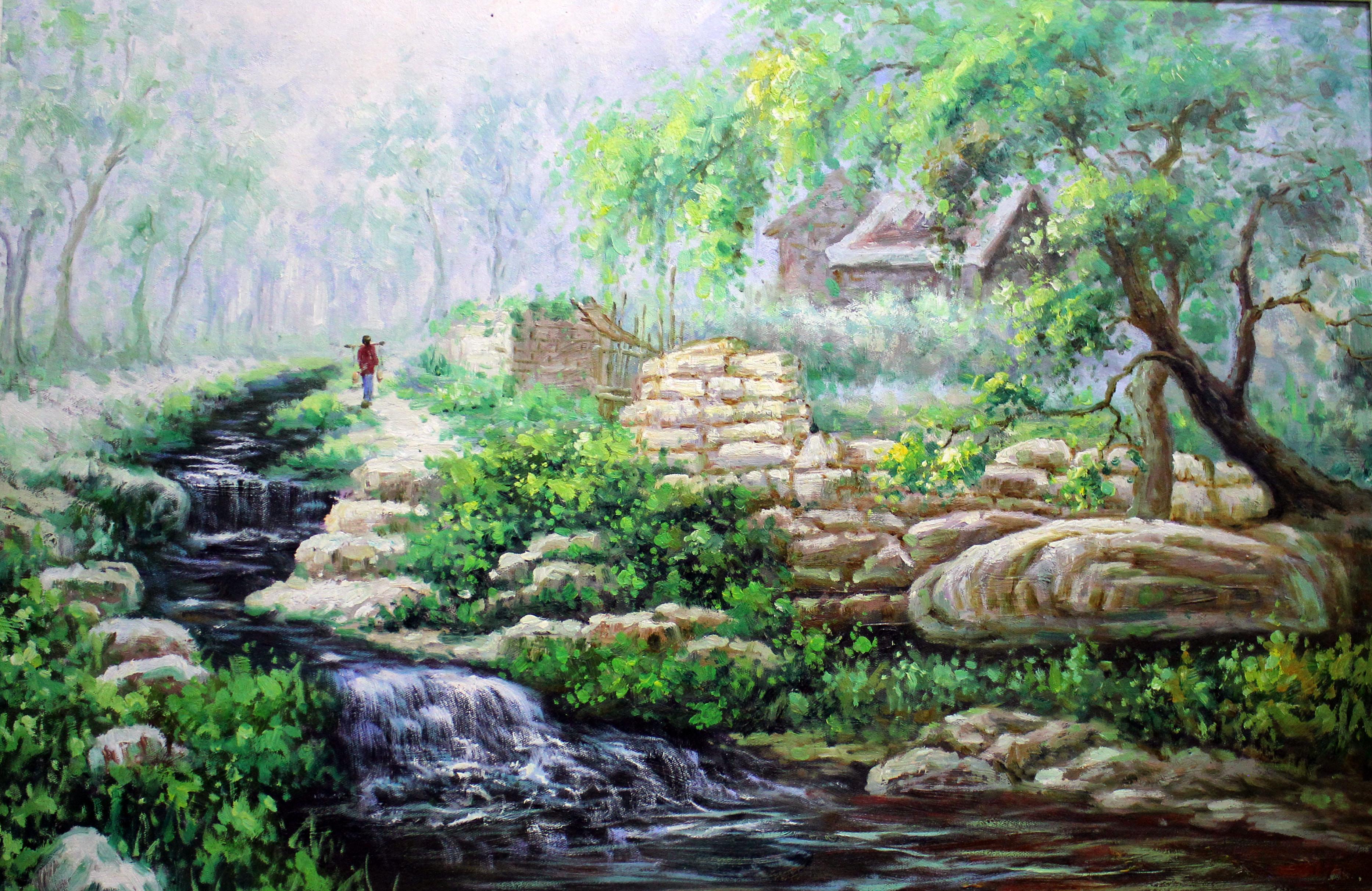 苏州风景画简单