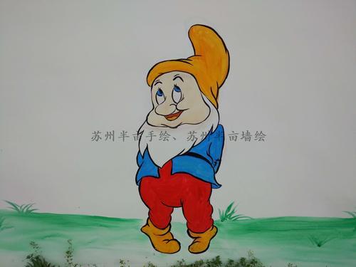 苏州半亩墙绘,南通墙绘,风景区白雪公主手绘墙 - 苏州